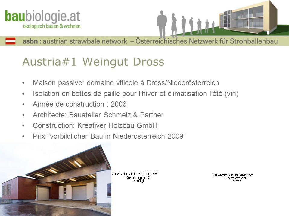 Austria#1 Weingut Dross Maison passive: domaine viticole à Dross/Niederösterreich Isolation en bottes de paille pour lhiver et climatisation lété (vin
