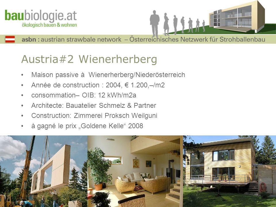Austria#2 Wienerherberg Maison passive à Wienerherberg/Niederösterreich Année de construction : 2004, 1.200,–/m2 consommation– OIB: 12 kWh/m2a Archite