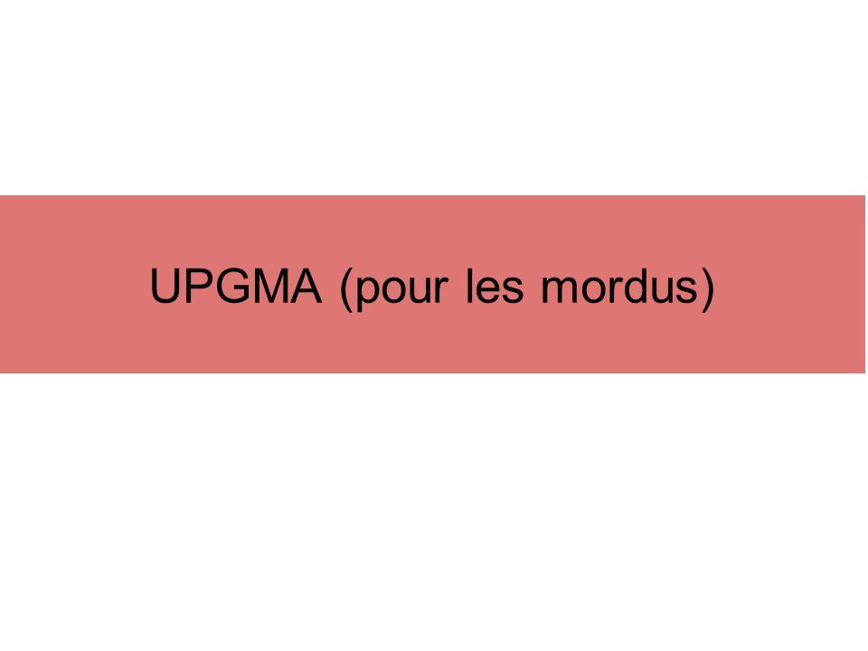 UPGMA (pour les mordus)
