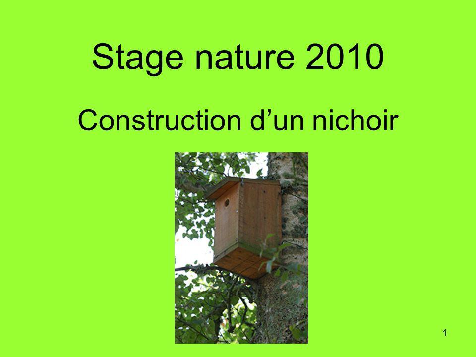 1 Construction dun nichoir Stage nature 2010