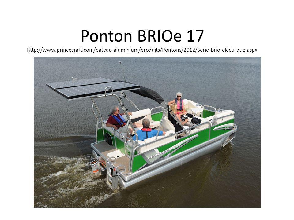 Ponton BRIOe 17 http://www.princecraft.com/bateau-aluminium/produits/Pontons/2012/Serie-Brio-electrique.aspx