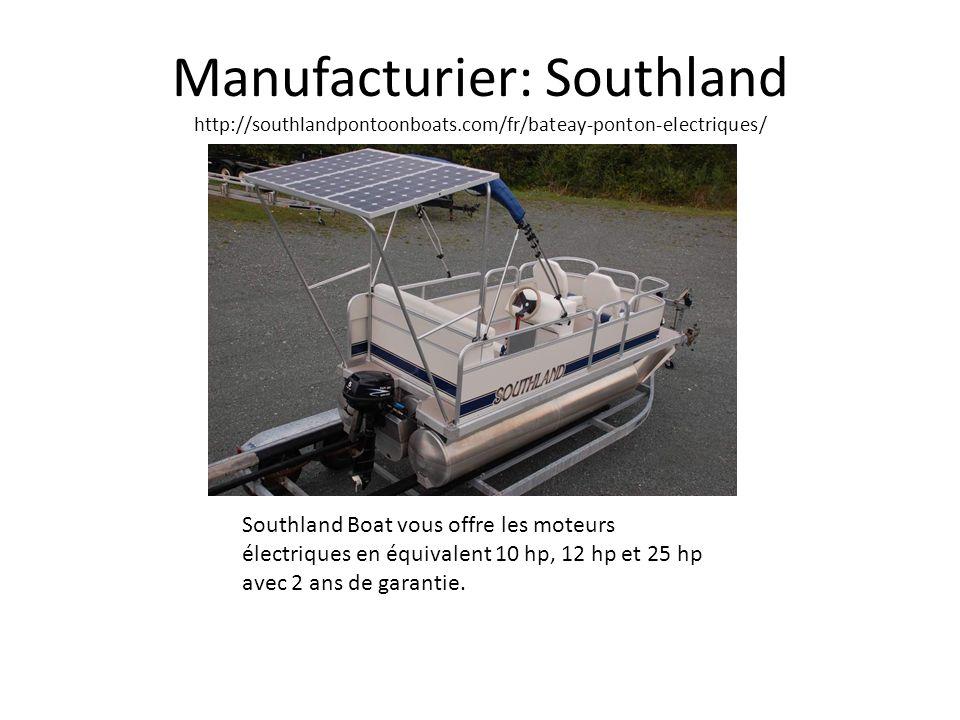 Manufacturier: Southland http://southlandpontoonboats.com/fr/bateay-ponton-electriques/ Southland Boat vous offre les moteurs électriques en équivalen