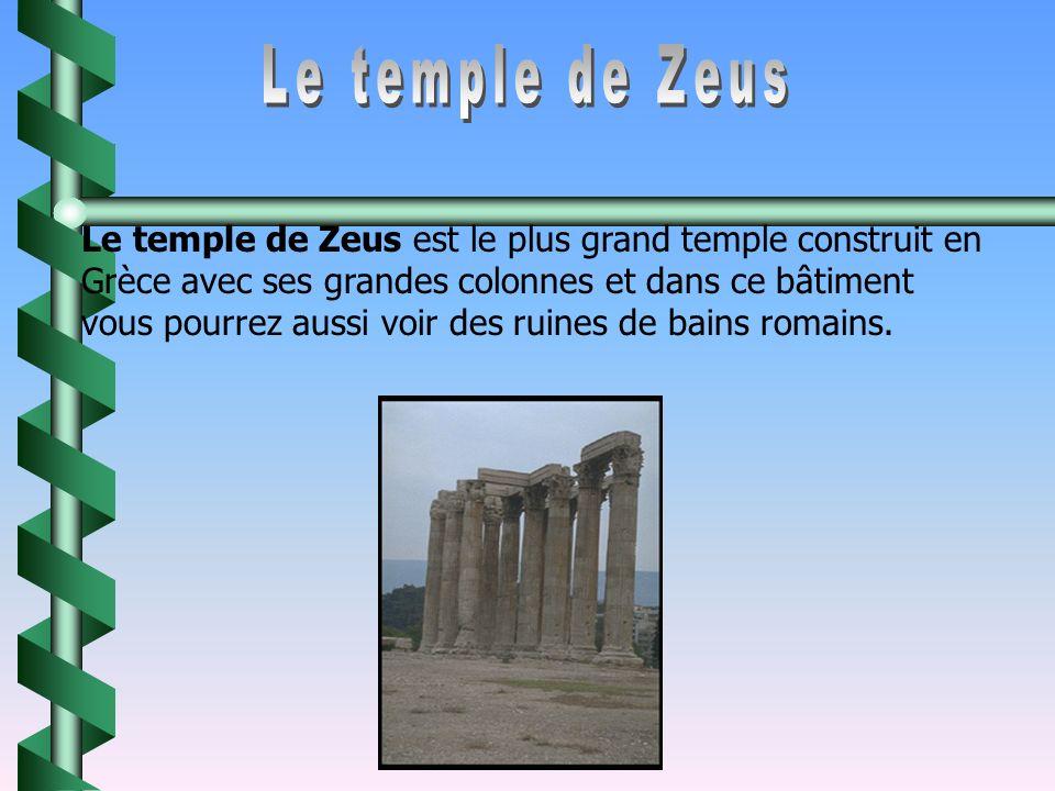 La tour des vents est un grand bâtiment en marbre qui fut construit au 2 e siecle av.