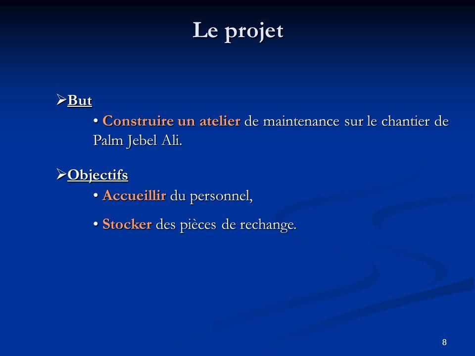 19 2.Organisation du projet 3. Mise en œuvre du projet 1.