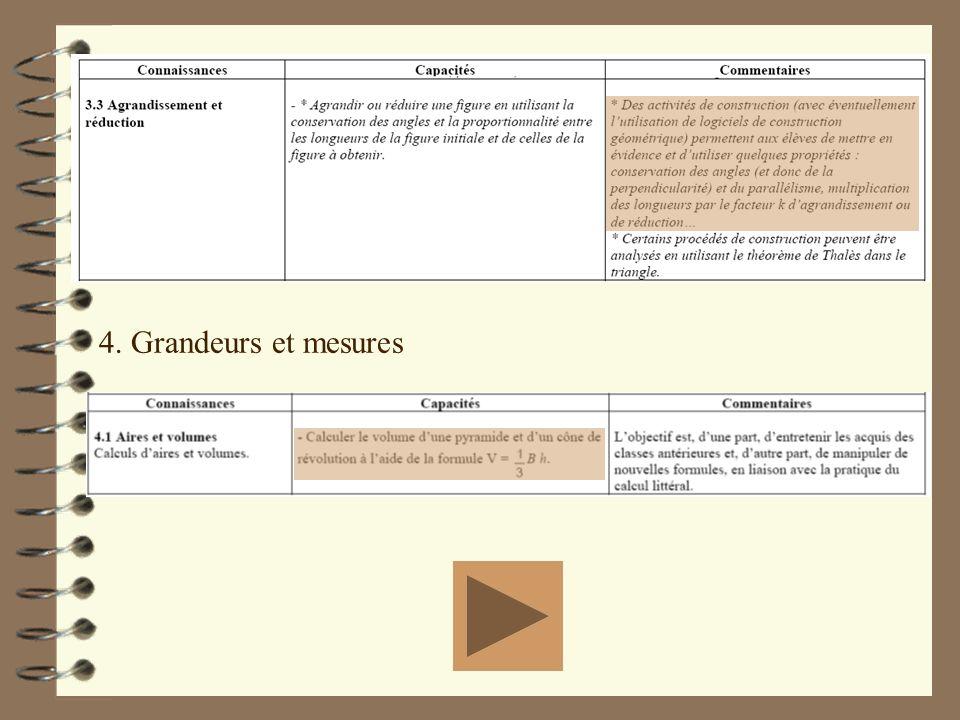 4. Grandeurs et mesures