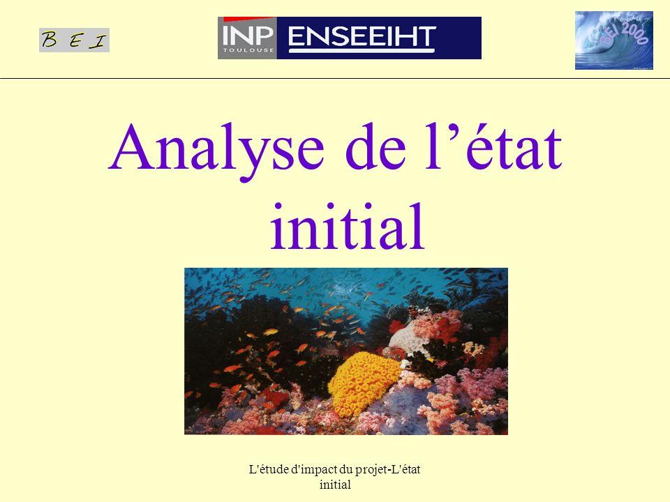 L'étude d'impact du projet-L'état initial Analyse de létat initial