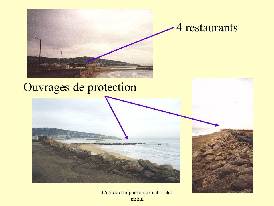 L'étude d'impact du projet-L'état initial 4 restaurants Ouvrages de protection