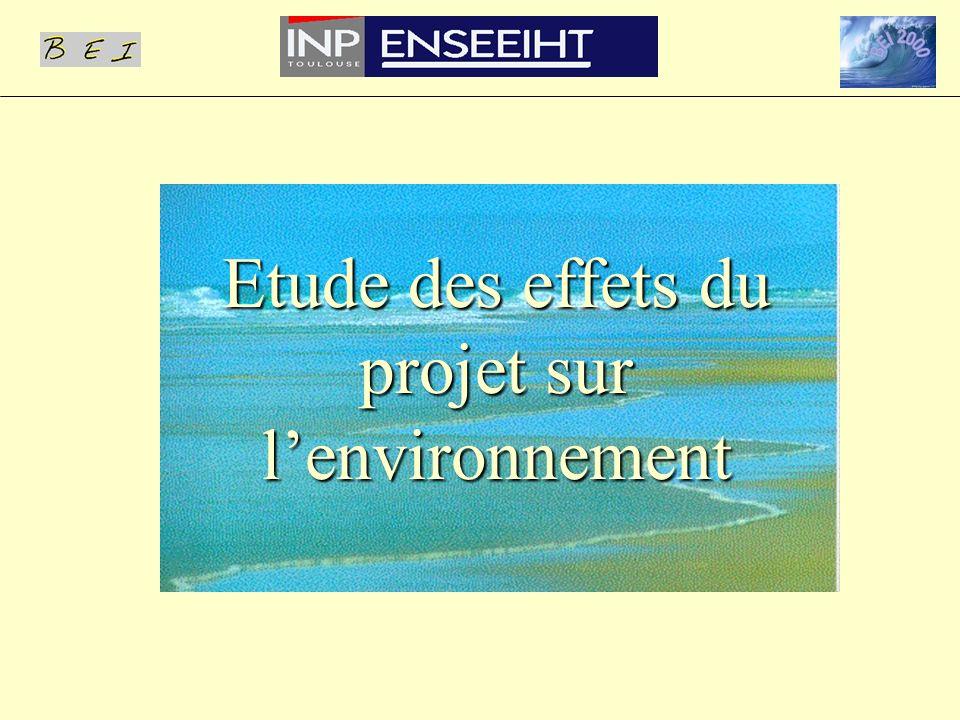 Etude des effets du projet sur lenvironnement