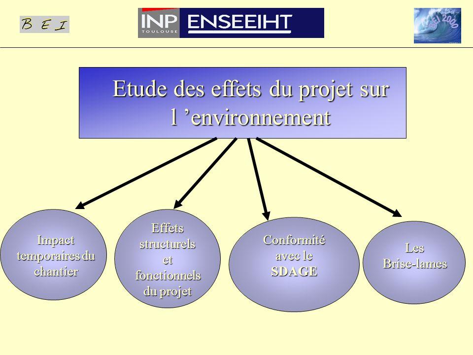 Effets structurels et fonctionnels du projet Impact temporaires du chantier LesBrise-lames Conformité avec le SDAGE
