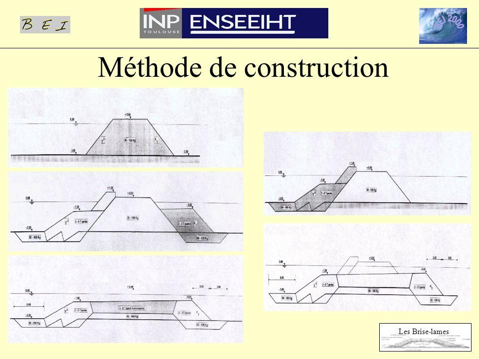 Méthode de construction Les Brise-lames