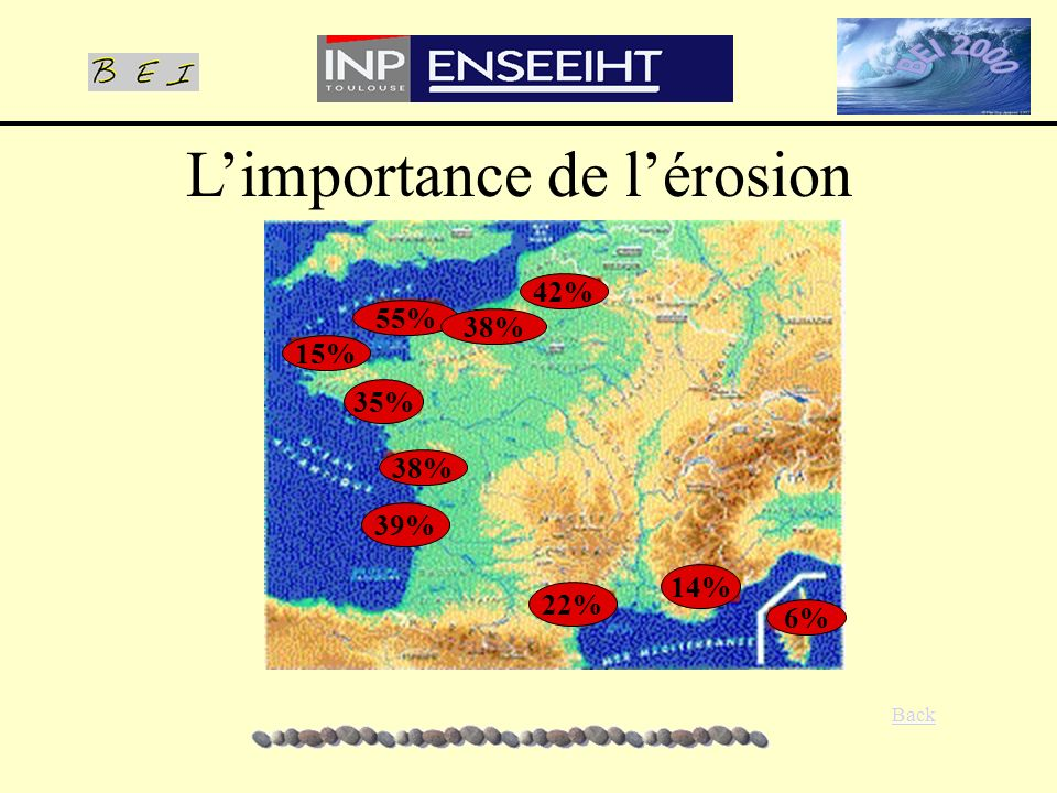 LES DIFFERENTES ETAPES Choix du domaine Digitalisation des données Maillage Choix des conditions aux limites Réglage des différents paramètres: le coefficient de réflexion la surcôte Résultats