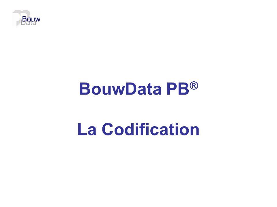 BouwData PB ® La Codification