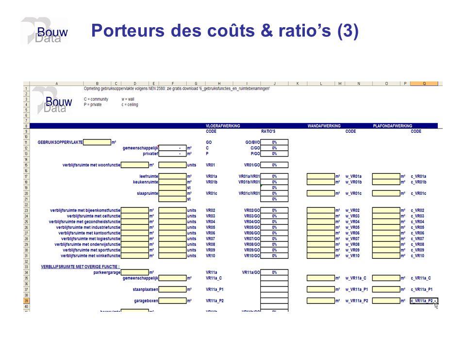Porteurs des coûts & ratios (3)