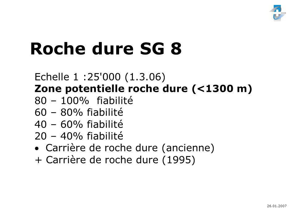 26.01.2007 Indications - frontière cantonale - frontière communale Roche dure SG 8