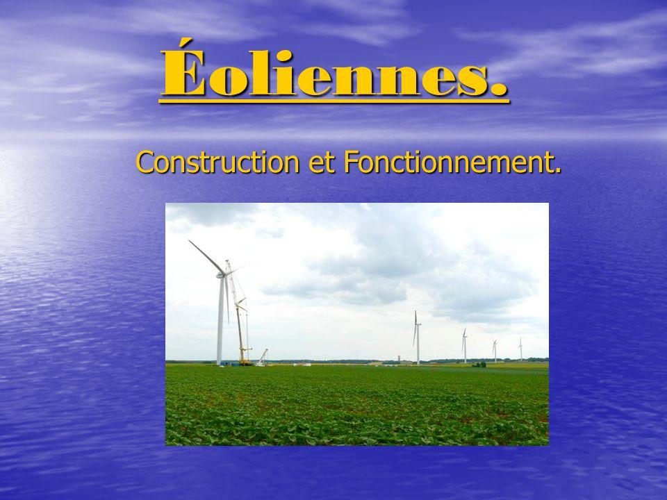SOMMAIRE.Fiche technique. Fiche technique. Construction dune éoliennes.