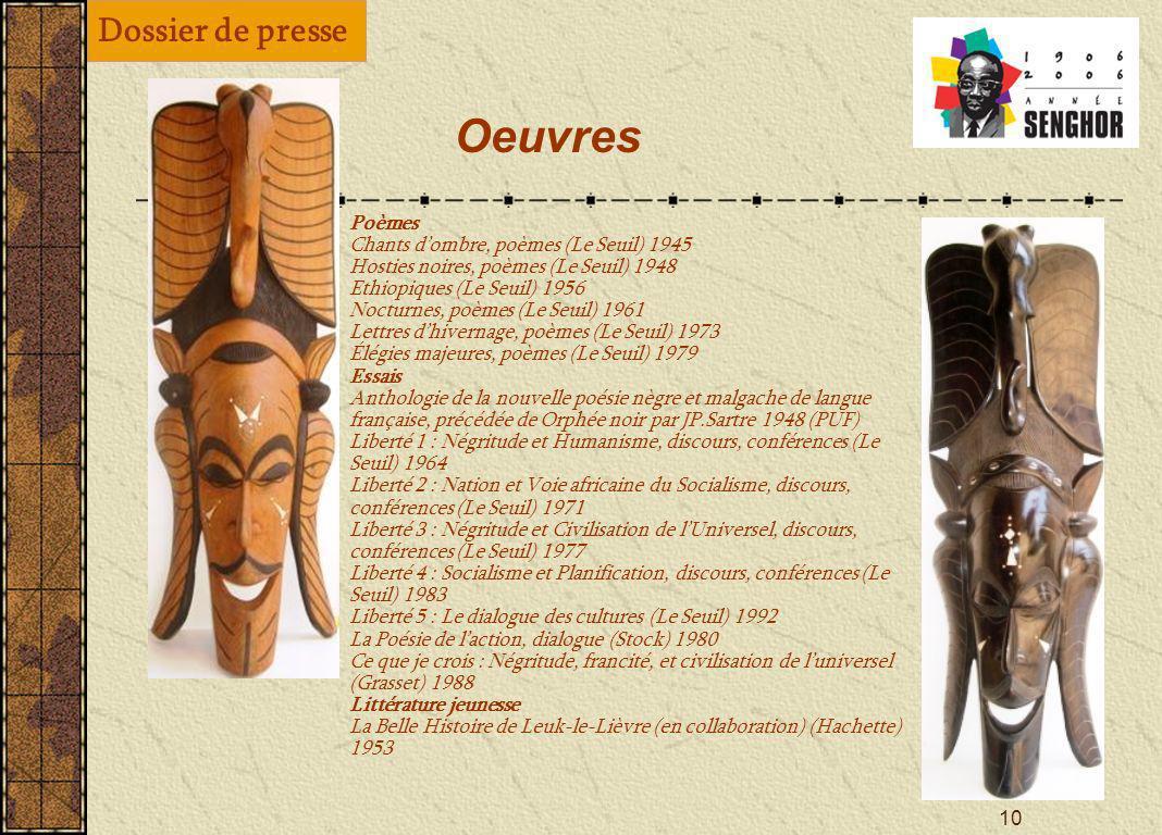 9 Léopold Sédar Senghor et la Francophonie « Lidée [ dune communauté organique francophone] mest venue, je crois, en 1955, lorsque, secrétaire dEtat à