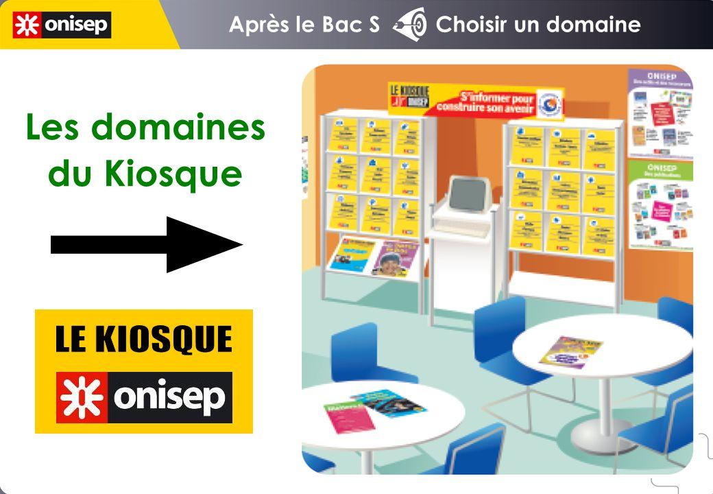 Après le Bac S Choisir un domaine Les domaines du Kiosque