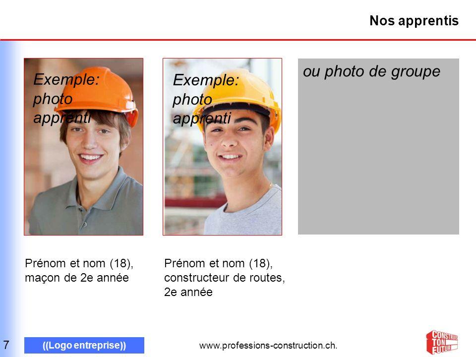 www.professions-construction.ch. ((Logo entreprise)) Nos professions : maçon 8