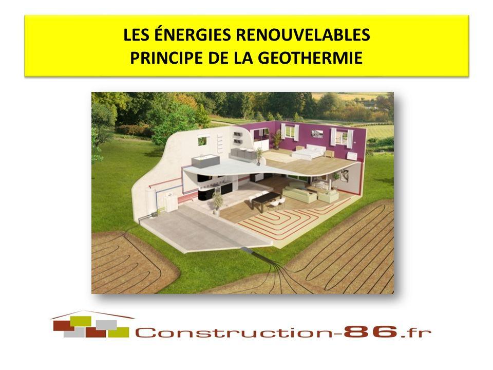 LES ÉNERGIES RENOUVELABLES PRINCIPE DE LA GEOTHERMIE