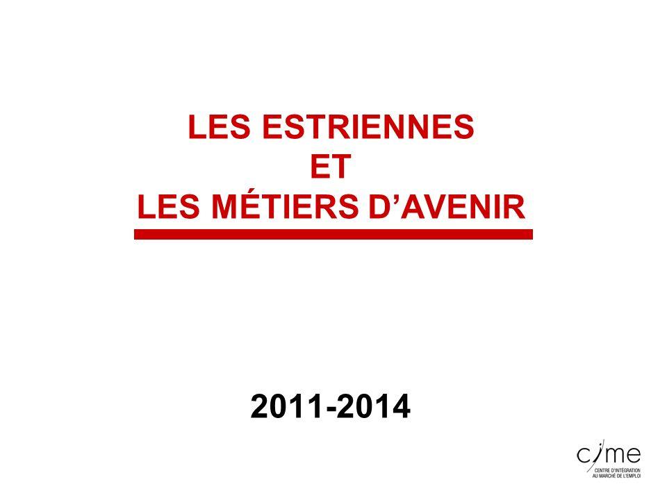 LES ESTRIENNES ET LES MÉTIERS DAVENIR 2011-2014
