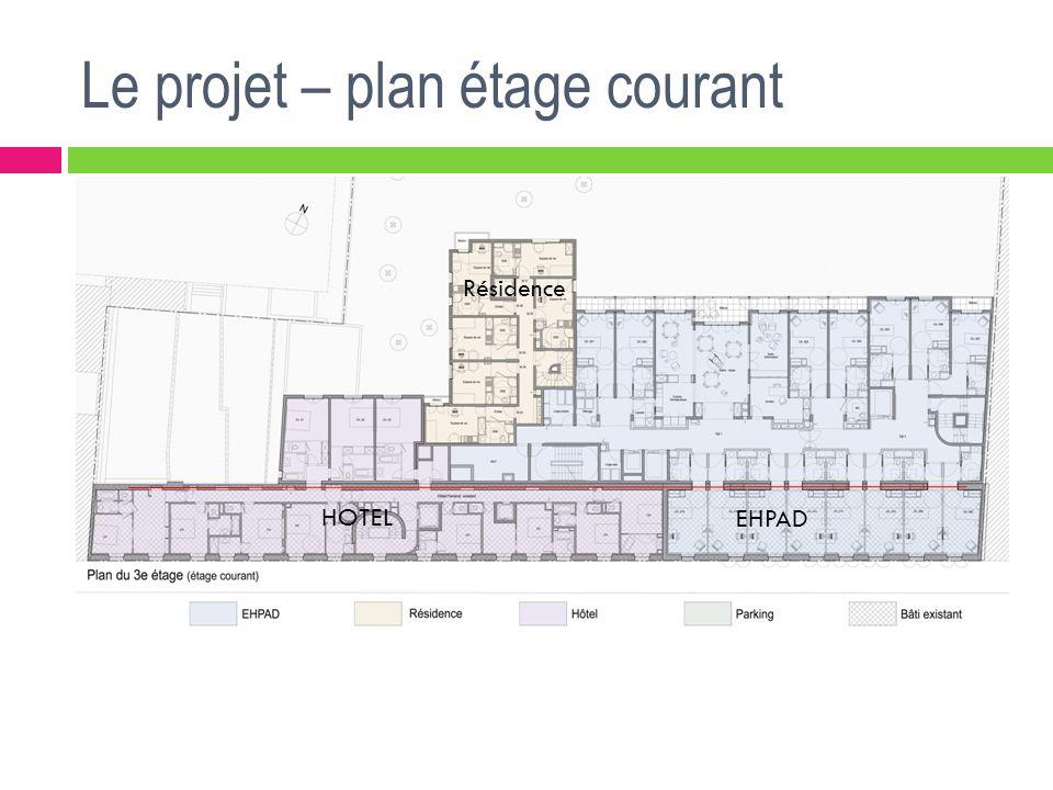 Le projet – plan étage courant Résidence EHPAD HOTEL