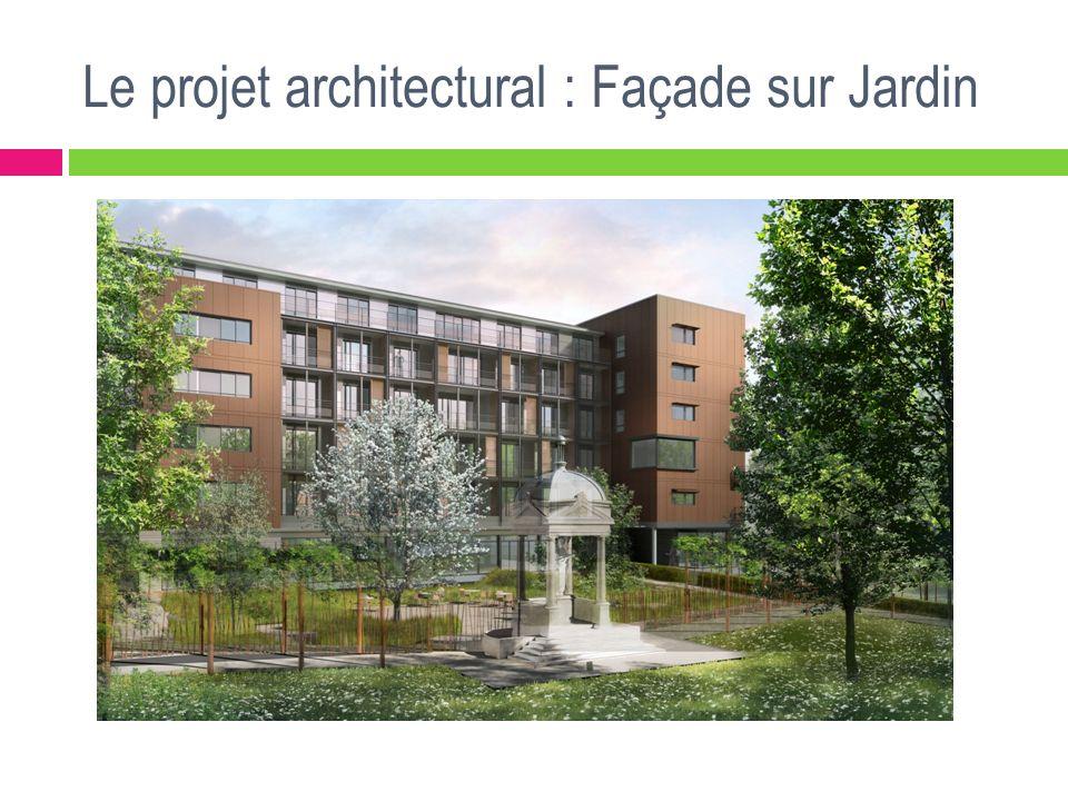 Le projet architectural : Façade sur Jardin