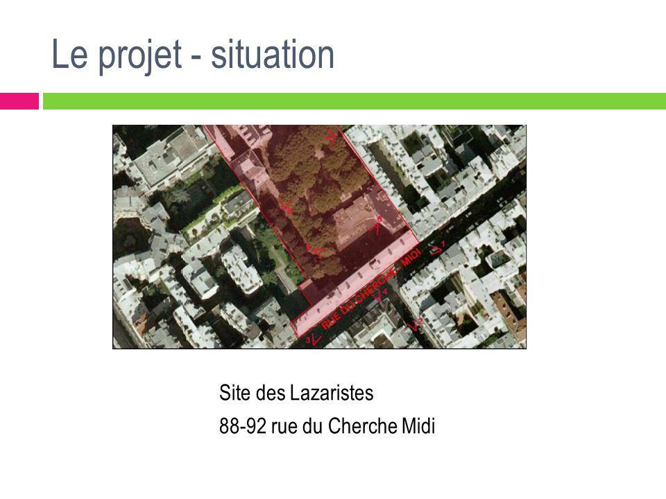 Le projet - démolitions Côté jardin, démolition de : La maison médicale et quelques appentis Bâti démoli Bâti conservé