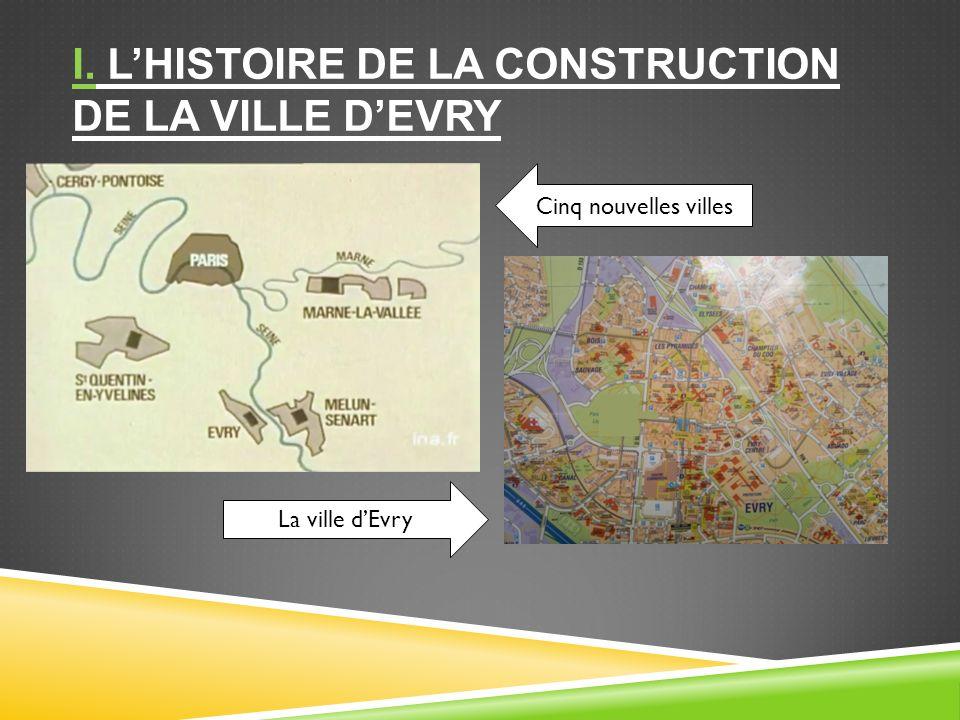 I. LHISTOIRE DE LA CONSTRUCTION DE LA VILLE DEVRY La ville dEvry Cinq nouvelles villes
