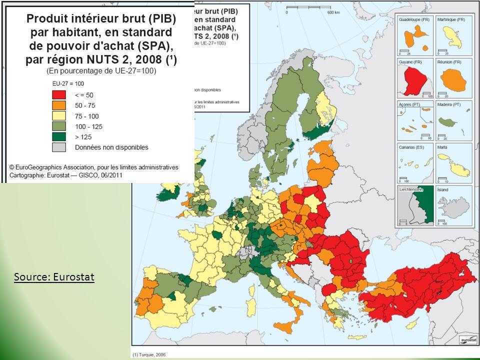 Source: Eurostat Stage Géo de la Guyane - 2013