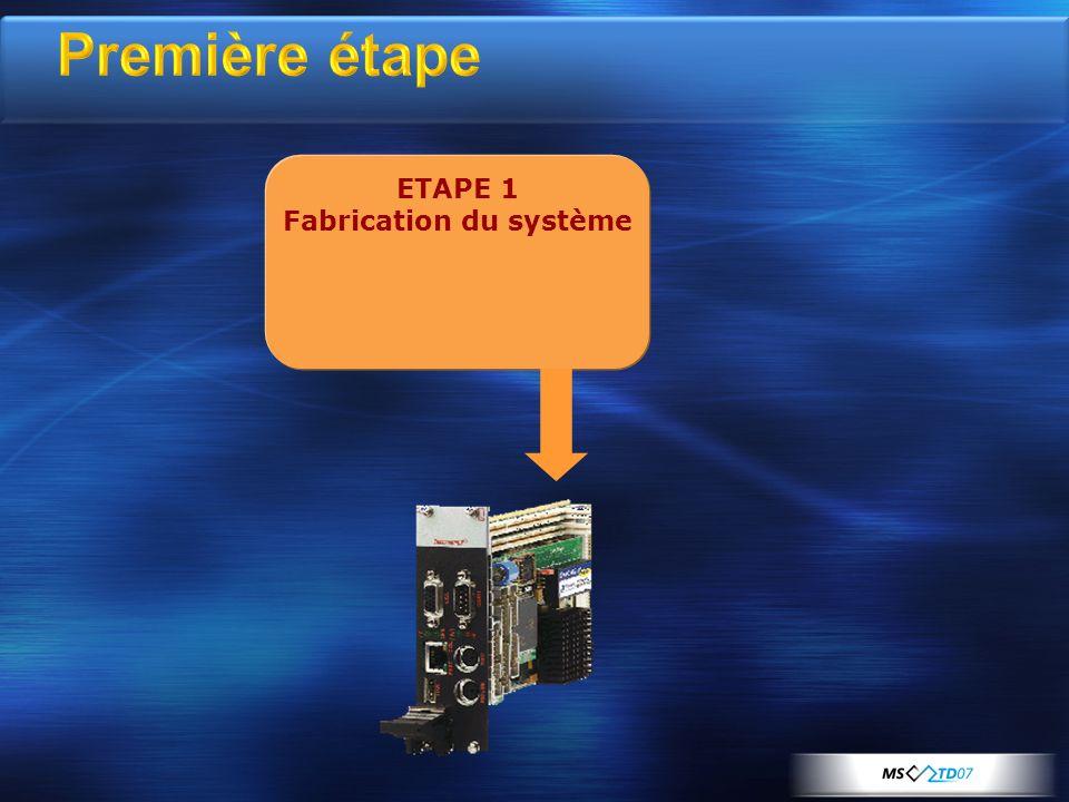 ETAPE 1 Fabrication du système