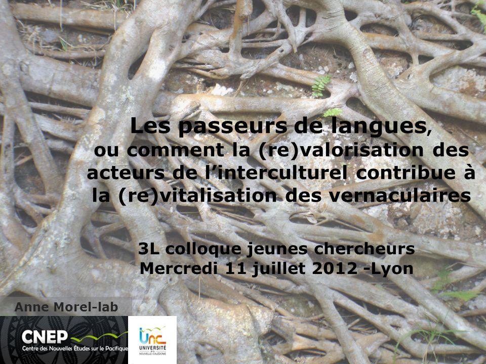 Les passeurs de langues, ou comment la (re)valorisation des acteurs de linterculturel contribue à la (re)vitalisation des vernaculaires Anne Morel-lab 3L colloque jeunes chercheurs Mercredi 11 juillet 2012 -Lyon