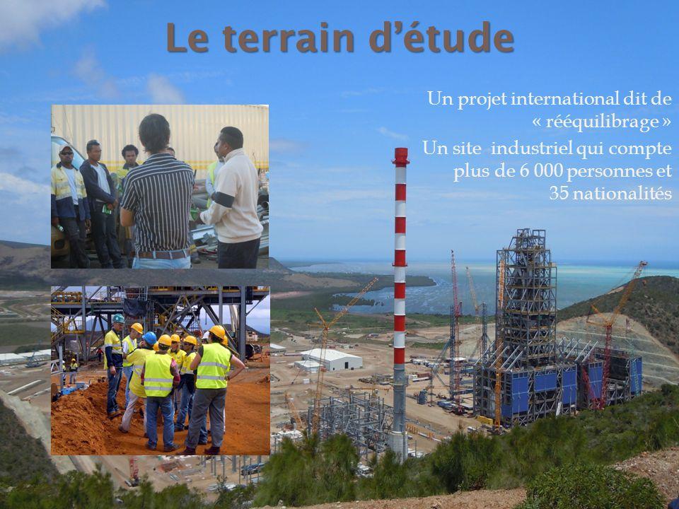 Le terrain détude Un projet international dit de « rééquilibrage » Un site industriel qui compte plus de 6 000 personnes et 35 nationalités
