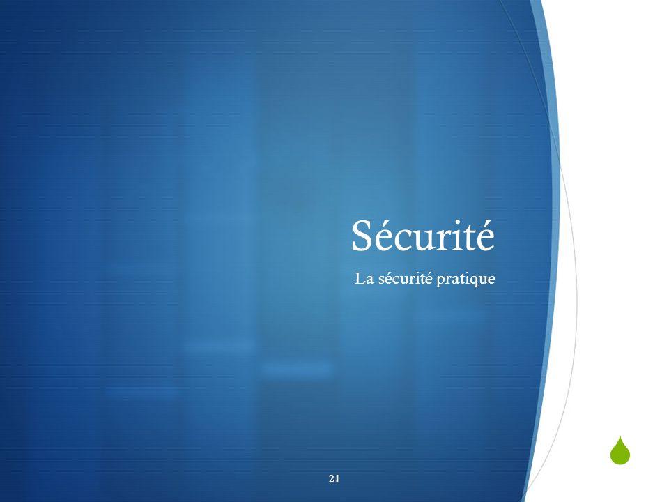 Sécurité La sécurité pratique 21