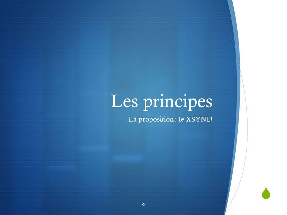 Les principes La proposition : le XSYND 9