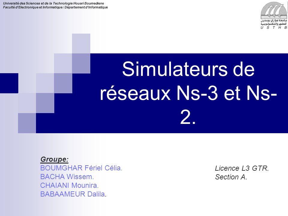 2 16/11/2013 Plan Description du simulateur NS3 : (Composants, modules).