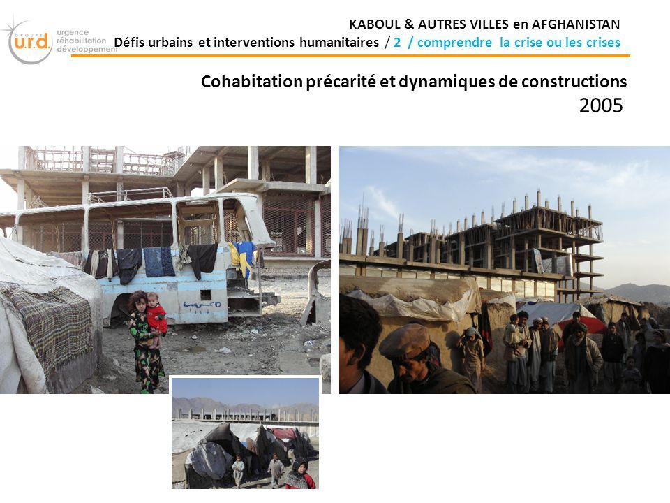Cohabitation précarité et dynamiques de constructions 2005 KABOUL & AUTRES VILLES en AFGHANISTAN Défis urbains et interventions humanitaires / 2 / comprendre la crise ou les crises