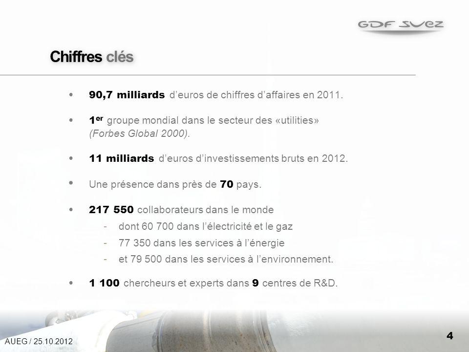 4 Chiffres clés 90,7 milliards deuros de chiffres daffaires en 2011.