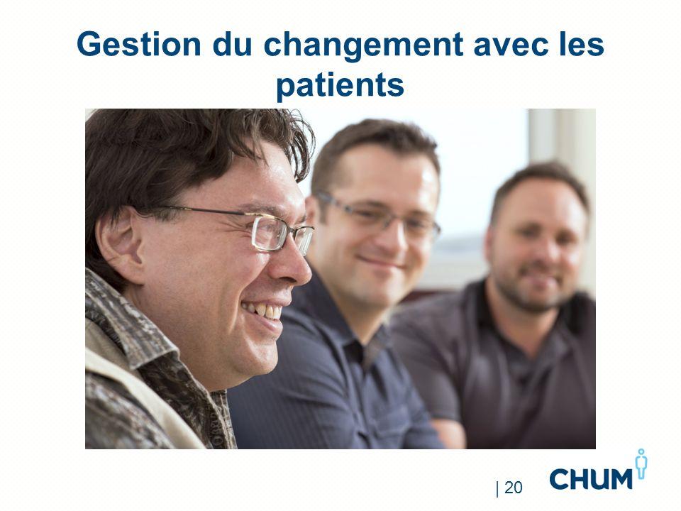 Gestion du changement avec les patients | 20