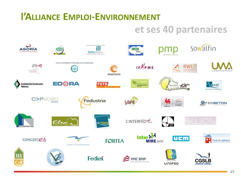 lA LLIANCE E MPLOI -E NVIRONNEMENT et ses 40 partenaires 49