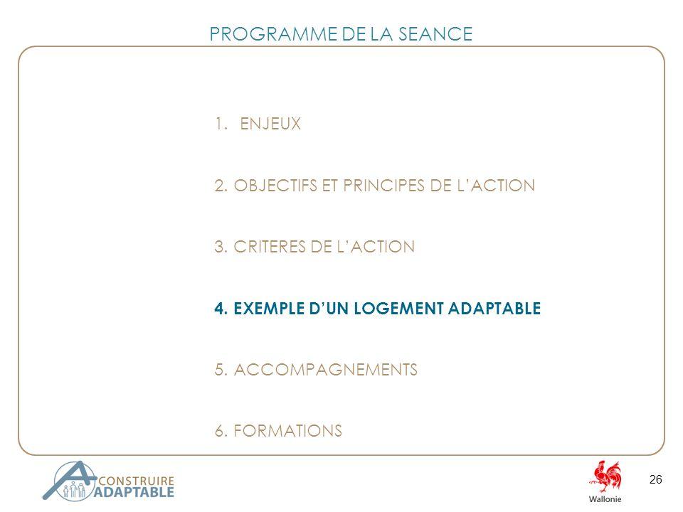 26 1.ENJEUX 2. OBJECTIFS ET PRINCIPES DE LACTION 3.