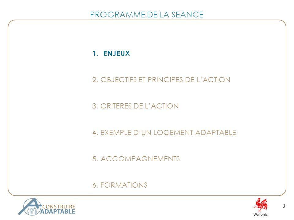 3 PROGRAMME DE LA SEANCE 1.ENJEUX 2. OBJECTIFS ET PRINCIPES DE LACTION 3.