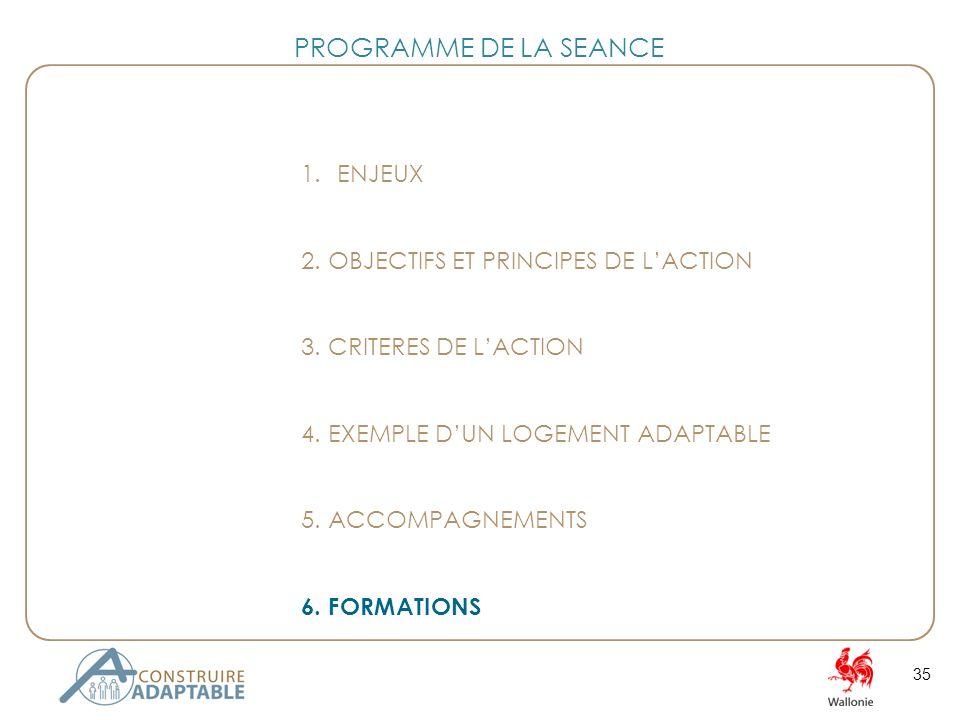 35 1.ENJEUX 2. OBJECTIFS ET PRINCIPES DE LACTION 3.