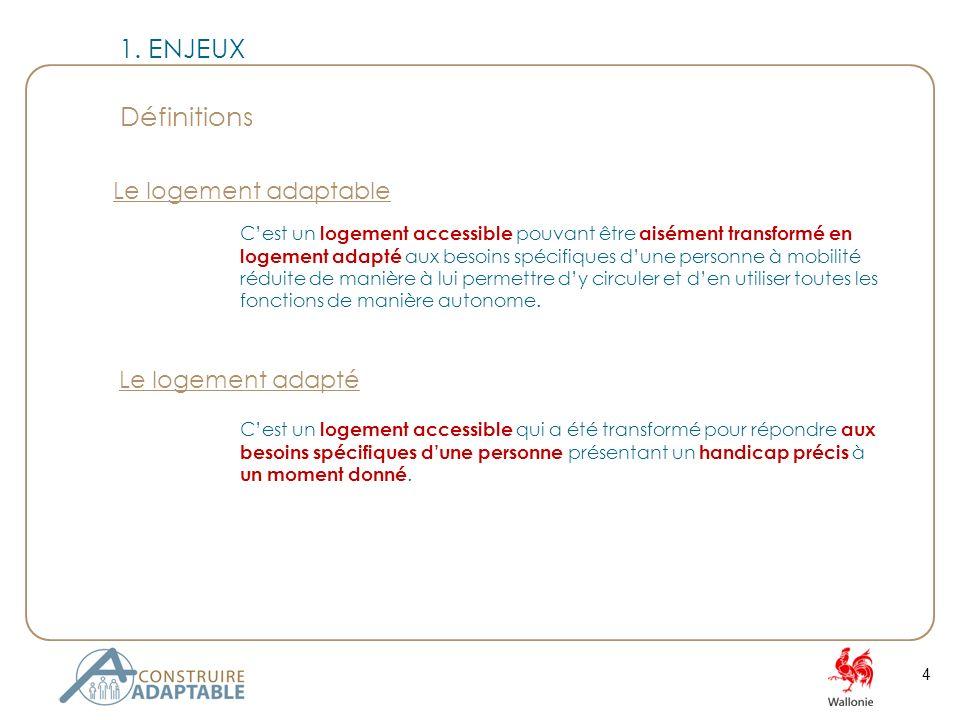 25 Les critères de laction « construire adaptable » sont repris sous deux grandes appellations.