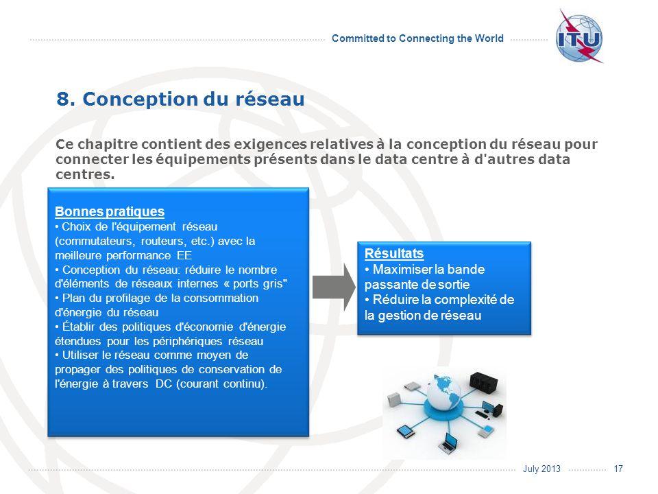 July 2013 Committed to Connecting the World Bonnes pratiques Choix de l'équipement réseau (commutateurs, routeurs, etc.) avec la meilleure performance