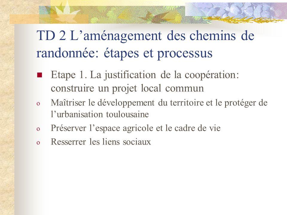 TD 2 Laménagement des chemins de randonnée: étapes et processus Etape 1.