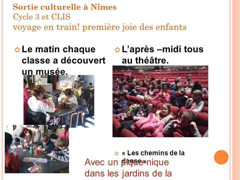 Sortie culturelle à Nîmes Cycle 3 et CLIS voyage en train.