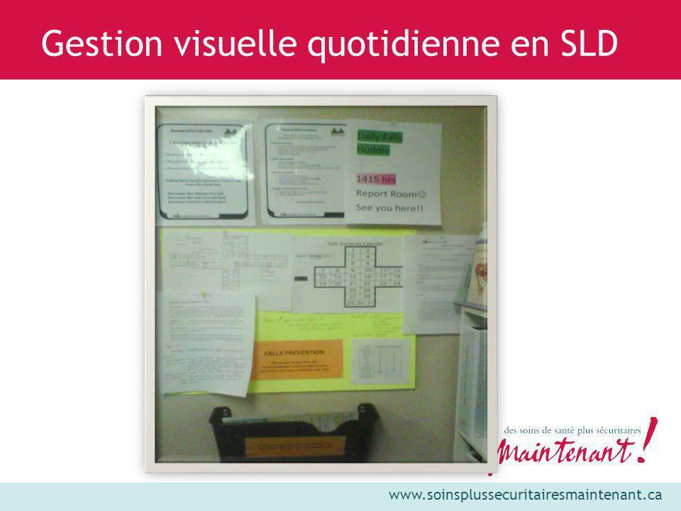 www.soinsplussecuritairesmaintenant.ca Gestion visuelle quotidienne en SLD