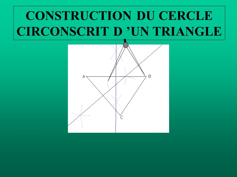 CONSTRUCTION DU CERCLE CIRCONSCRIT D UN TRIANGLE