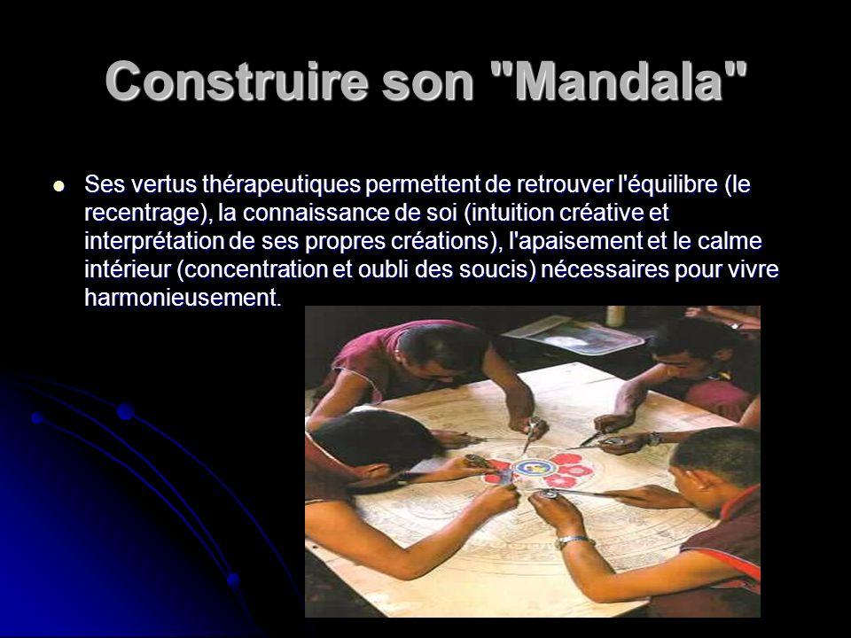 Construire son Mandala Il est facile de construire un mandala simple en employant les formes géométriques fondamentales du cercle,du carré et du triangle.