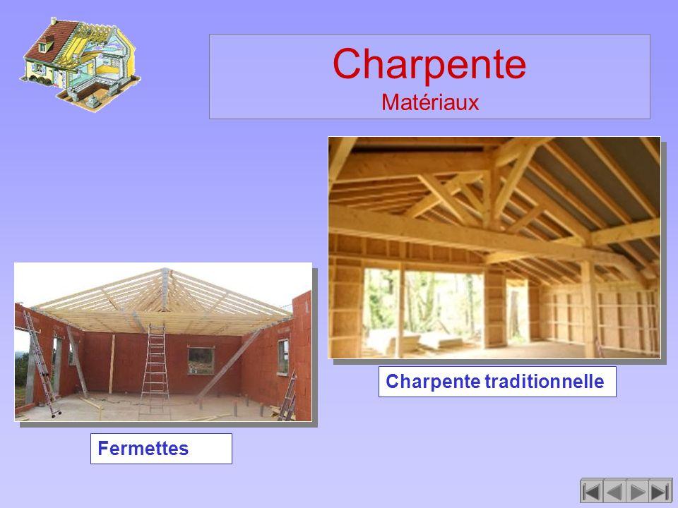 Charpente Matériaux Charpente traditionnelle Fermettes
